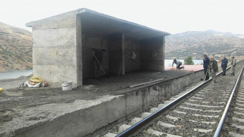 Burgudere (Ekrek) Köyü Tren İstasyonu Yapıldı-FOTO GALERİ