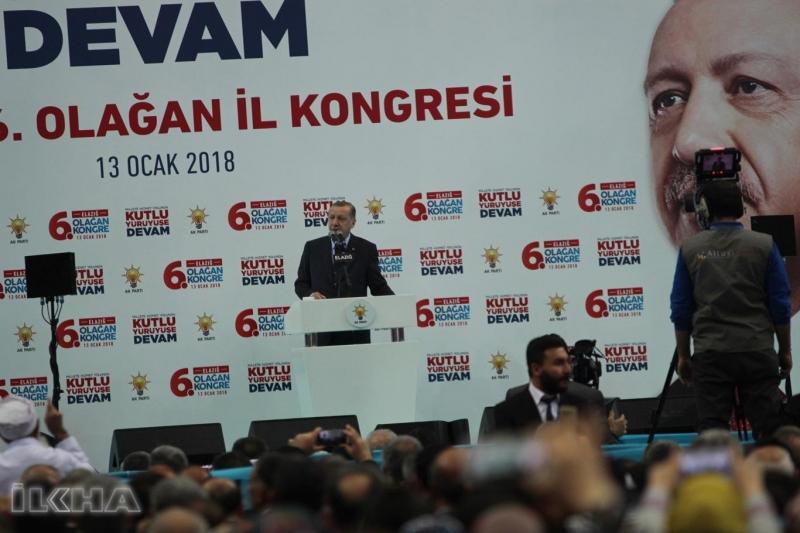 Cumhurbaşkanı Akparti Kongresi İçin Elazığ`da
