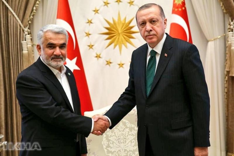 Cumhurbaşkanı Erdoğan HÜDA PAR Genel Başkanı Yapıcıoğlu'nu kabul etti
