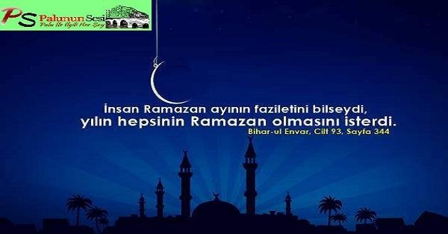 Ramazan ayı ve bir Müslüman...