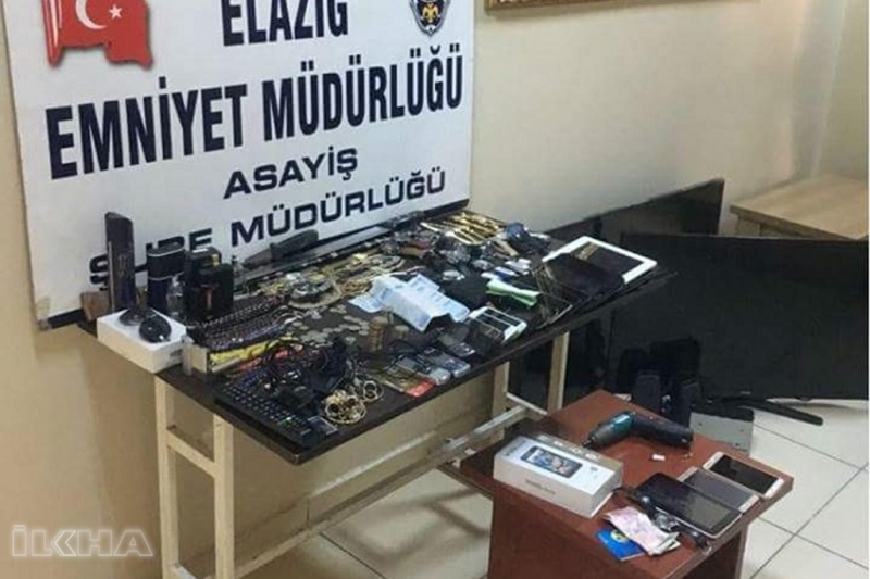 Elazığ'da hırsızlık operasyonu