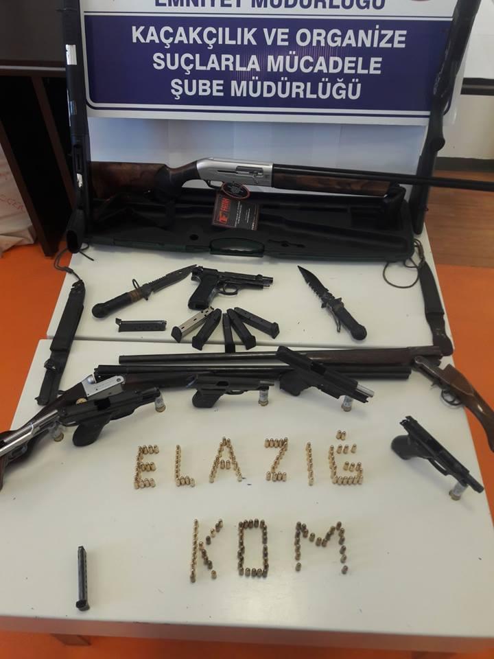 Elazığ`da Silah Tacirlerine Operasyon: 9 Gözaltı