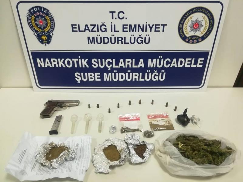 Elazığ`da Uyuşturucu Kaçakçıları Suç Makinası Çıktı