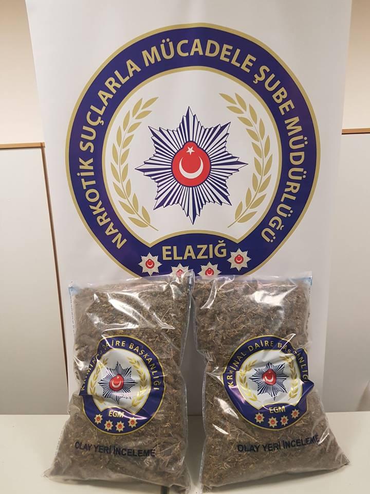 Elazığ`da Uyuşturucu Operasyonu