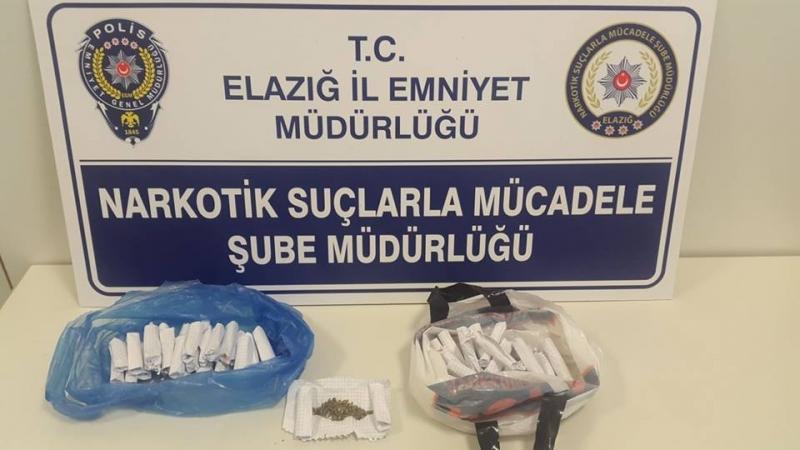 Elazığ`da uyuşturucu operasyonu: 2 gözaltı