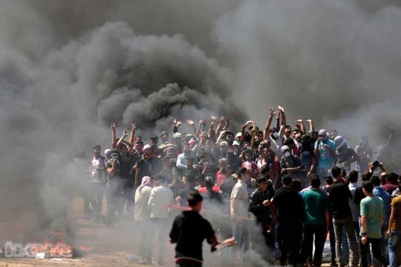Gazze'de siyonist terörü: 55 şehid 2 bin 771 yaralı