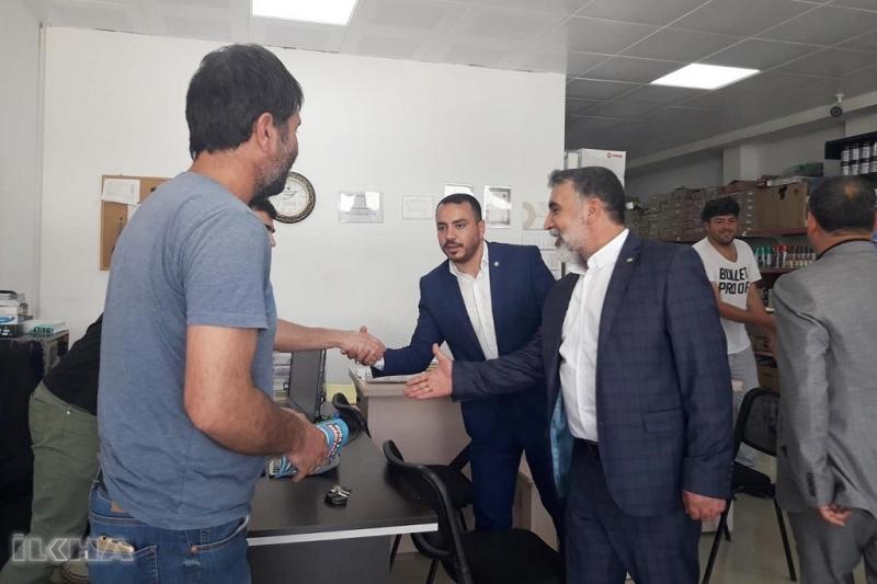 HÜDA PAR milletvekili adayları Tunceli'de esnafı ziyaret etti
