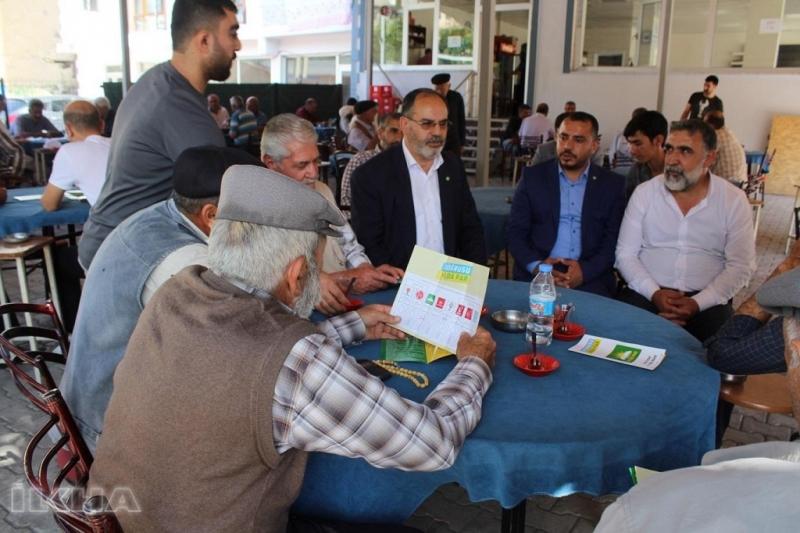 HÜDA PAR Tunceli milletvekili adaylarından esnaf ziyareti