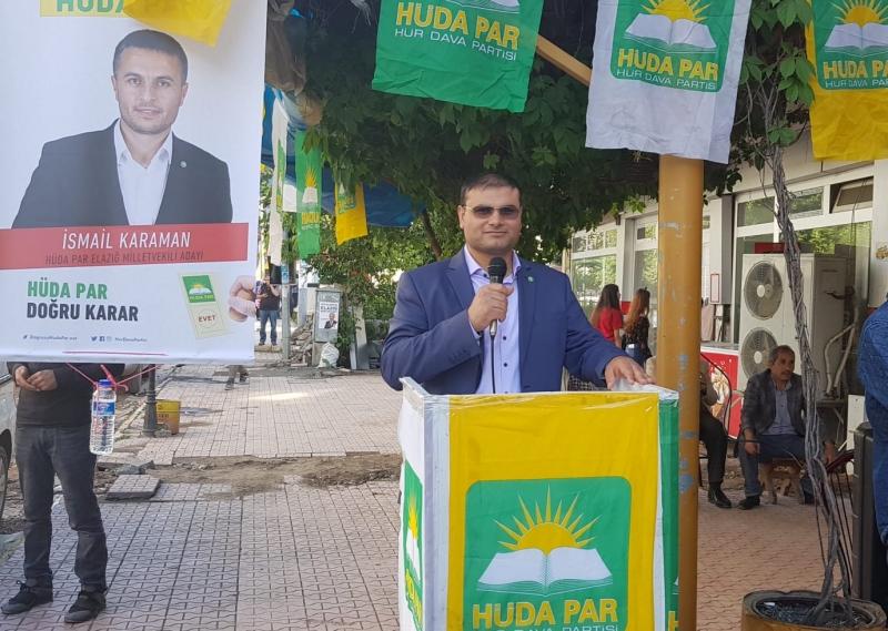 Kovancılar HÜDA PAR İlçe Başkanından afiş skandalı ile ilgili açıklama