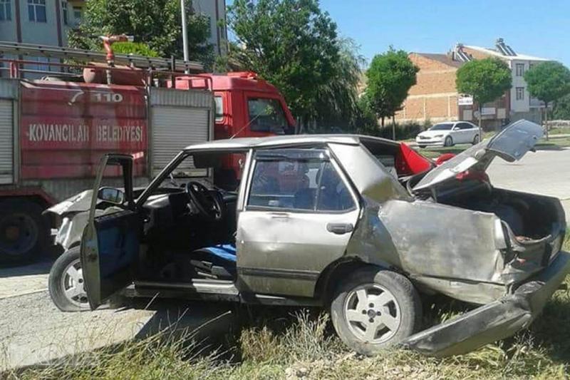 Kovancılar`da kaza: Bir yaralı