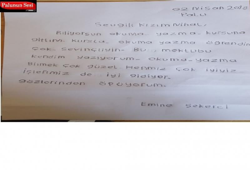 Palu ADEM`de Okuma Yazma Öğrenen Anne Kızına Mektup Yazdı
