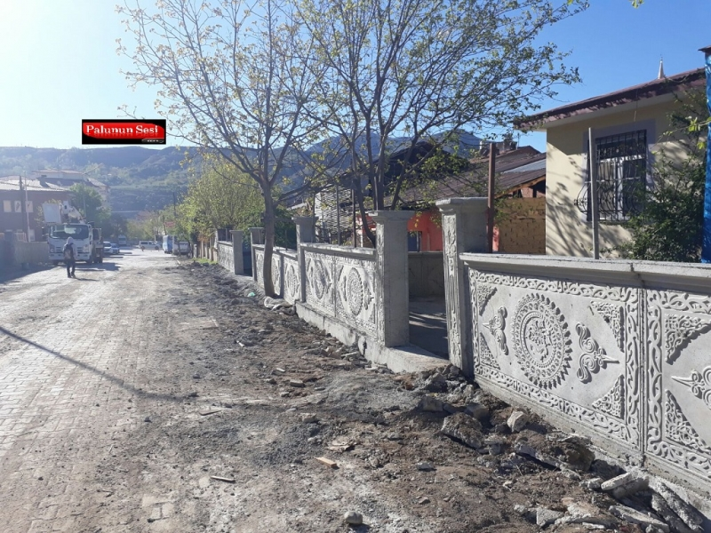 Palu Belediyesi Modern Duvar Yapımına Başladı