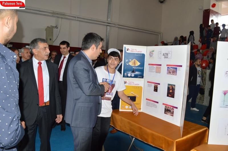 Palu Yatılı Bölge Ortaokulu Tübitak Destekli Bilim Fuarı Düzenledi