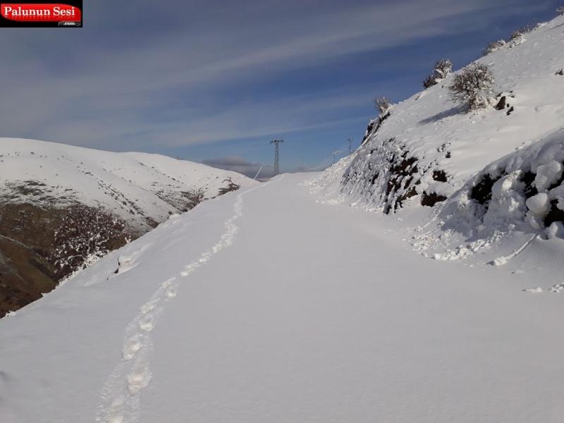Palu`da 10 Köy Yolu Kar Nedeniyle Kapalı