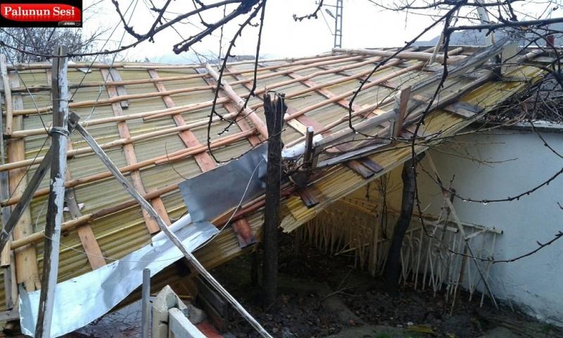 Palu`da Yağış ve Rüzgar Korkuttu