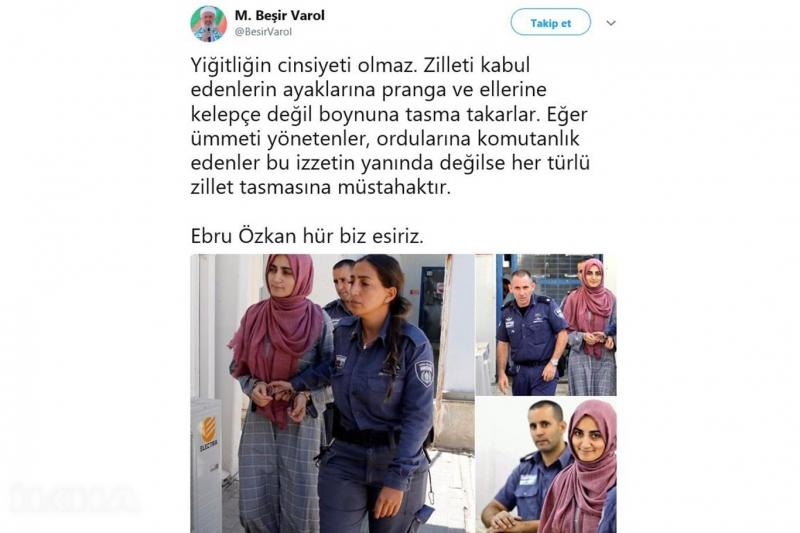 Sosyal medya kullanıcıları #EbruÖzkanaÖzgürlük dedi